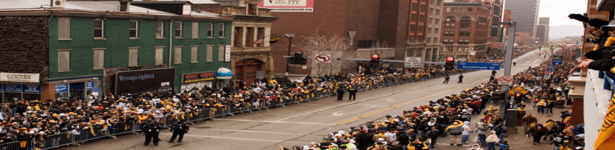 A parade of fans