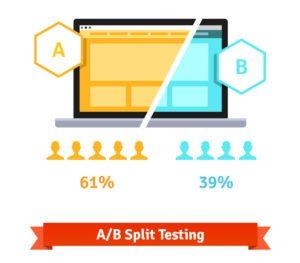 ab test split screen laptop