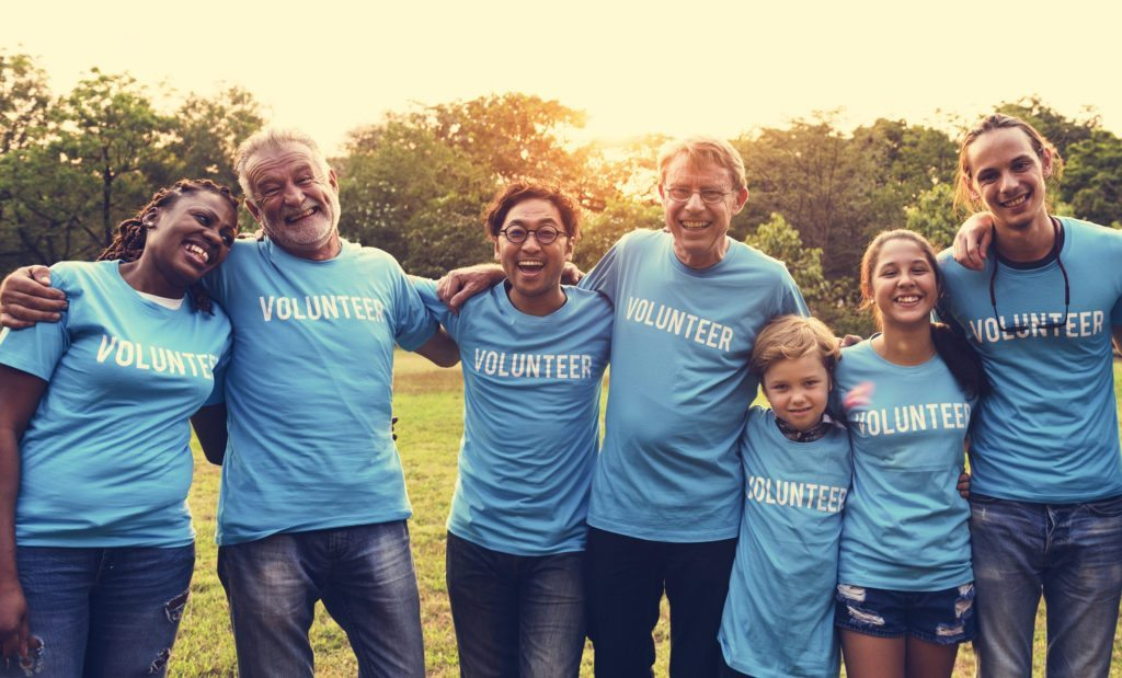Group of Diverse People as Volunteer Community Service Together