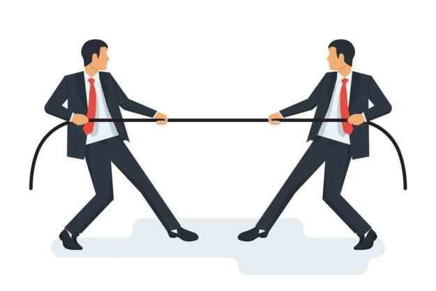 Businessmen battle it out over SEO keywords