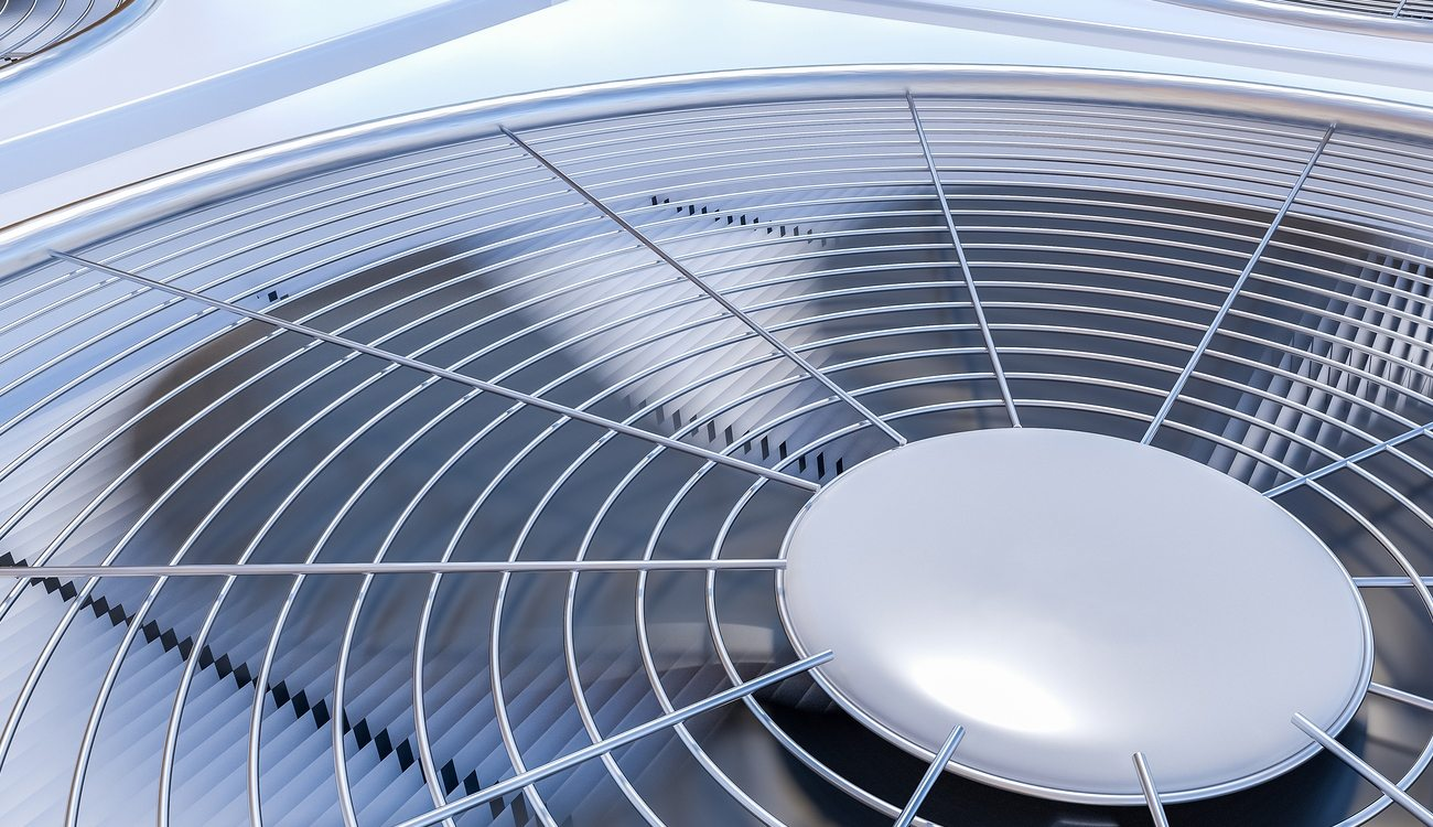 Close Up View On Hvac Units (heating, Ventilation And Air Condit
