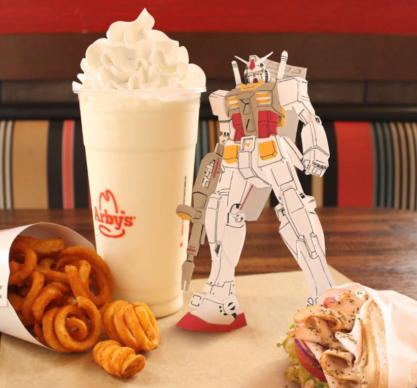 arby's fast food marketing success gundam nerd art