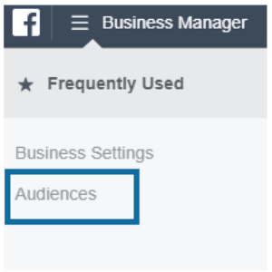 Click on Audiences