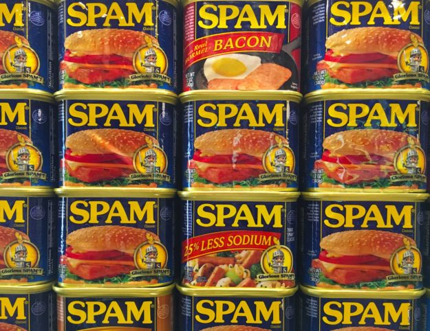 spam display spam cans repeating pattern