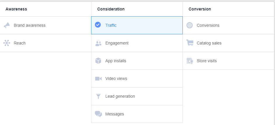 Build Facebook Following: Facebook Ad Options