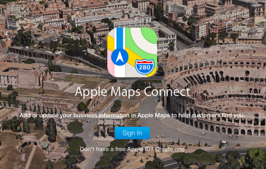 Apple Maps Home Screen