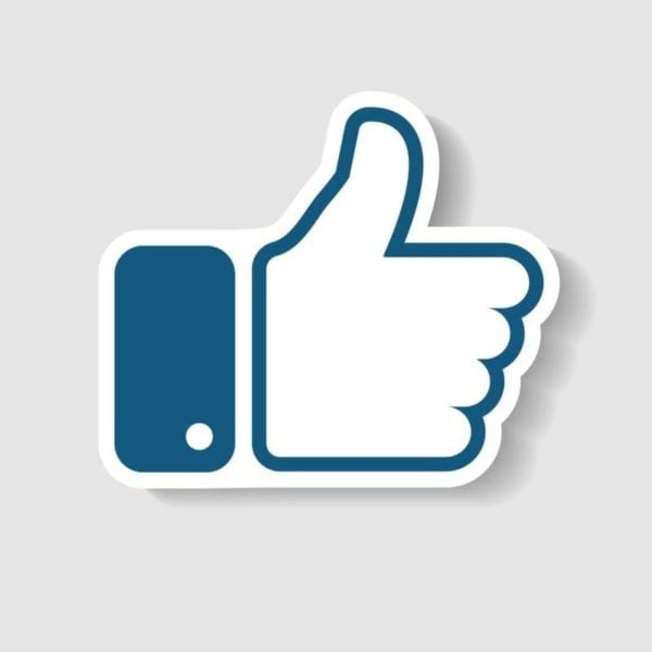 New Like Icon In Trendy Paper Art Style Thumb Up Vector