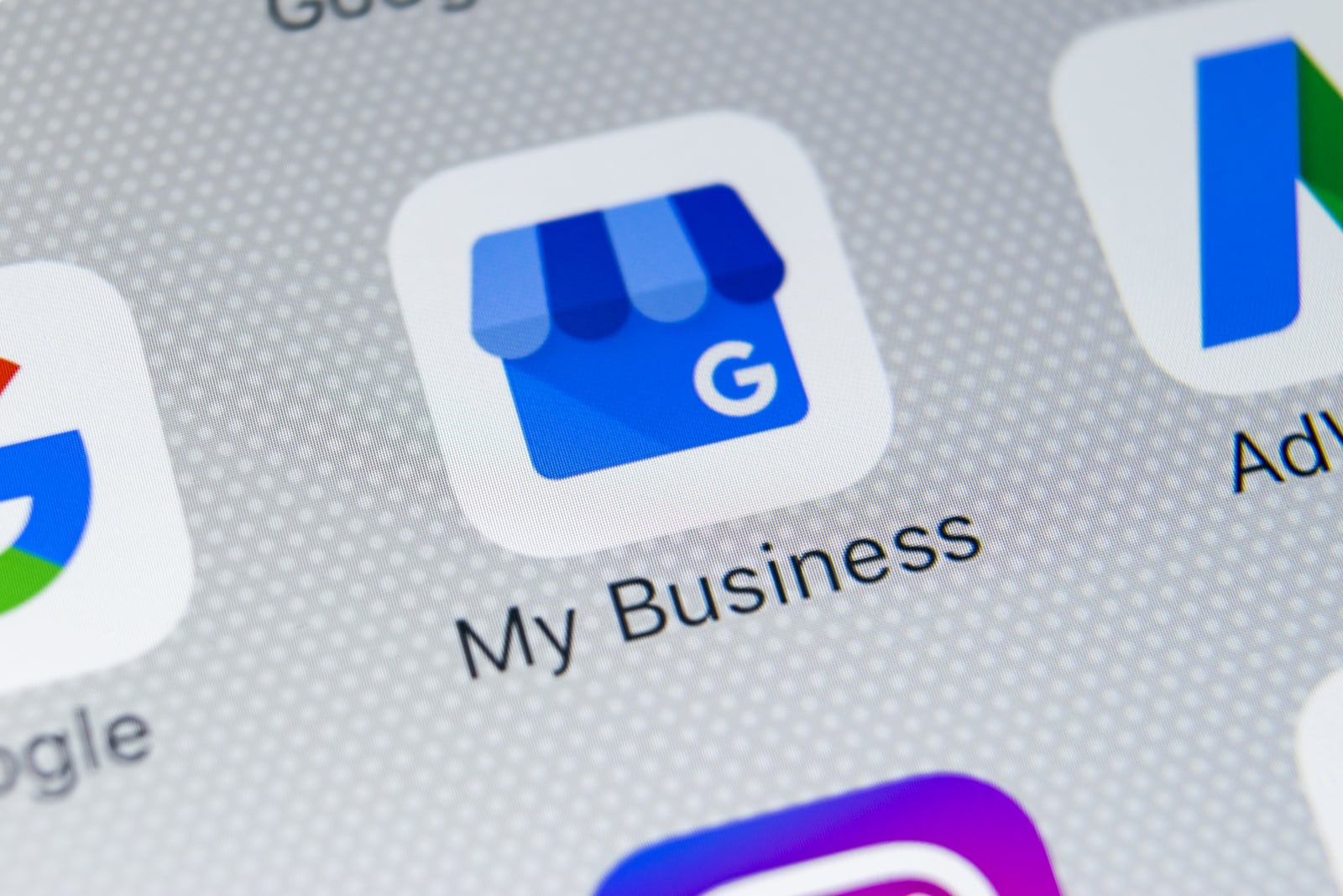 google my business application on mobile phone