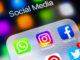 Social media sites in a folder on an IOS device
